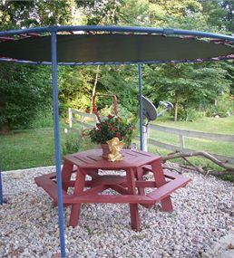 trampoline als parasol