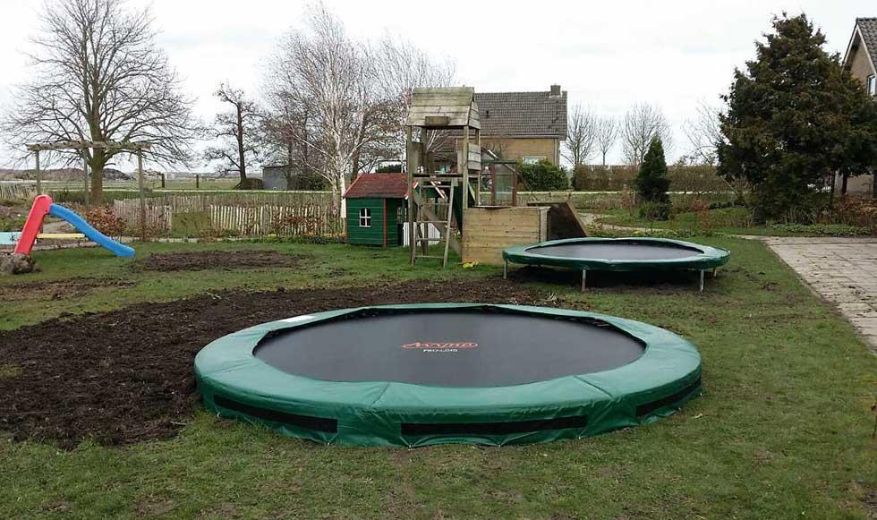 trampoline ingegraven zorgtuin La Vie